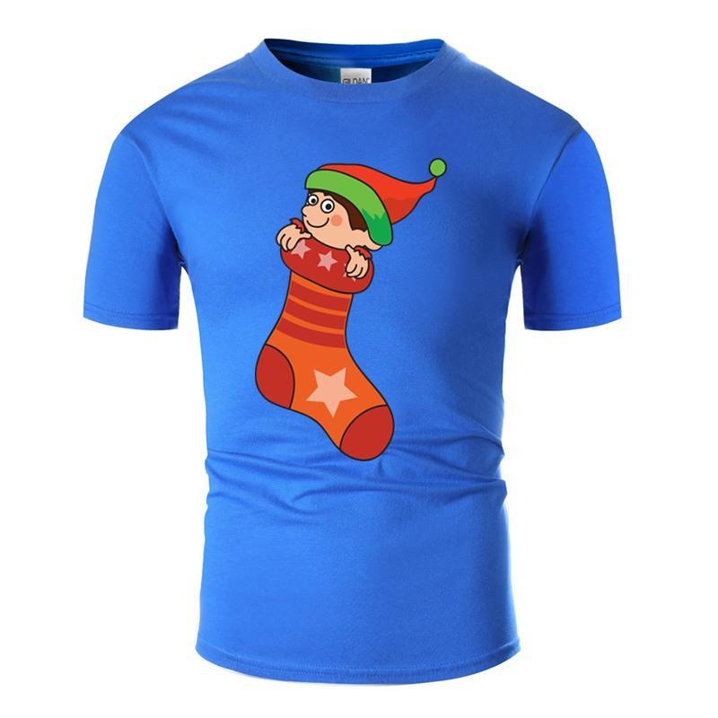 Meias Xmas Doces engraçados doces do Natal Meias camiseta Humor Anti-rugas Cinza Sólidos menina do menino camisetas Camisetas