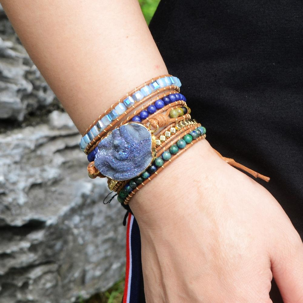 Blue Galaxy Wrap Around Charm Bracelet Charm Bracelet Bracelet Stack