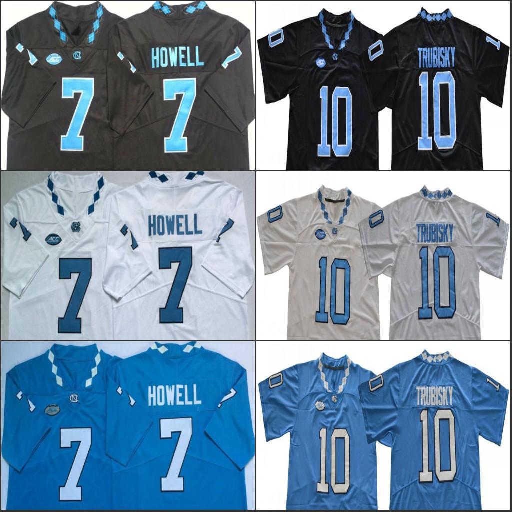 Северная Каролина Сэм Митчелл Howell Trubisky Футбол сшитого Джерси NCAA Mens Джерси 150-голубые белые черные свитера