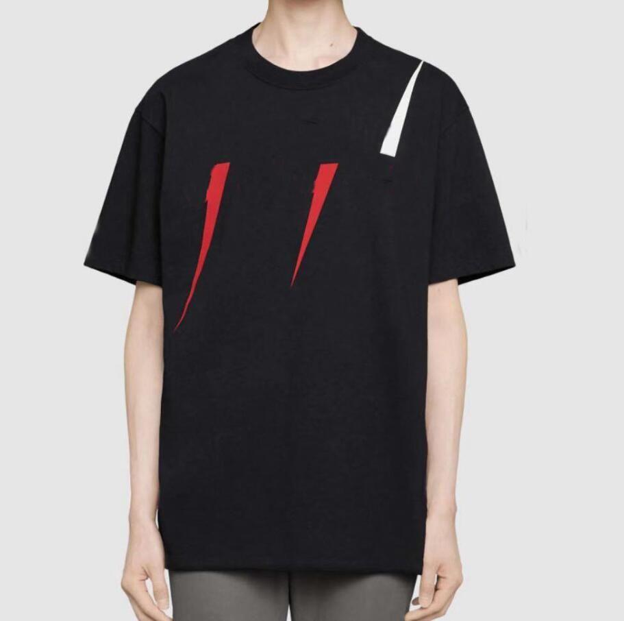 19SS Verão T Shirt Letters Homens T Made in Italy Fashion Designer de manga curta letras impressas Hight qualidade T-shirt Mulheres Tops 2 cores