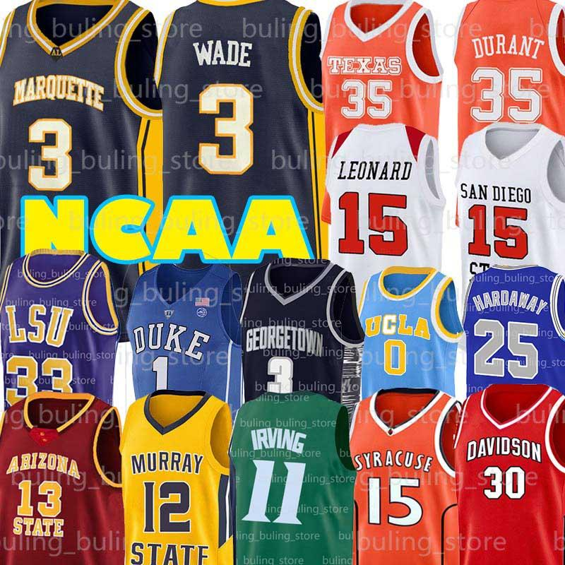 NCAA Dwyane Wade 3 Jersey Shaquille 32 Oneal College-11 Irving 25 Penny Kyrie Kevin Durant 35 7 Hardaway James 13 Harden Basketball