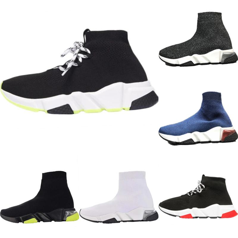 With Box 2020 Speed Stretch Knit High-Top Casual Sock Boots Original Speed Trainer Clearsole Buffer Rubber Built-in Zoom Air Trainer Shoes