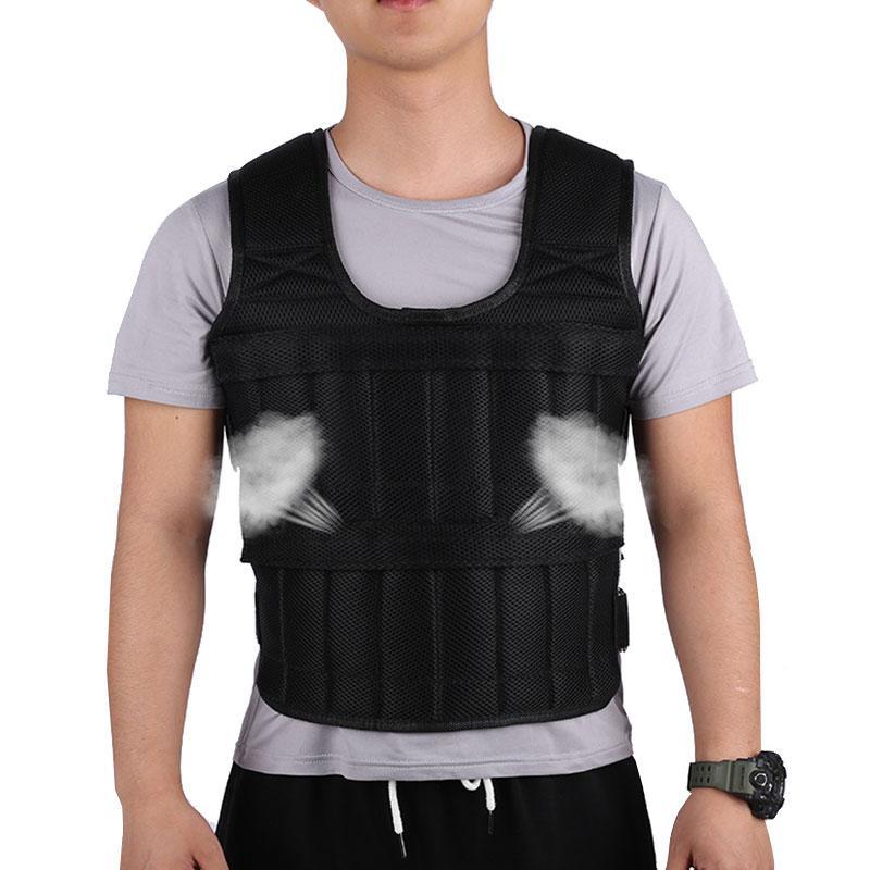 Regolabile 30KG Esercizio Caricamento del peso della camicia per l'esecuzione di pugilato imbracatura pesi Fitness Gym Gilet Giacca Sand Abbigliamento