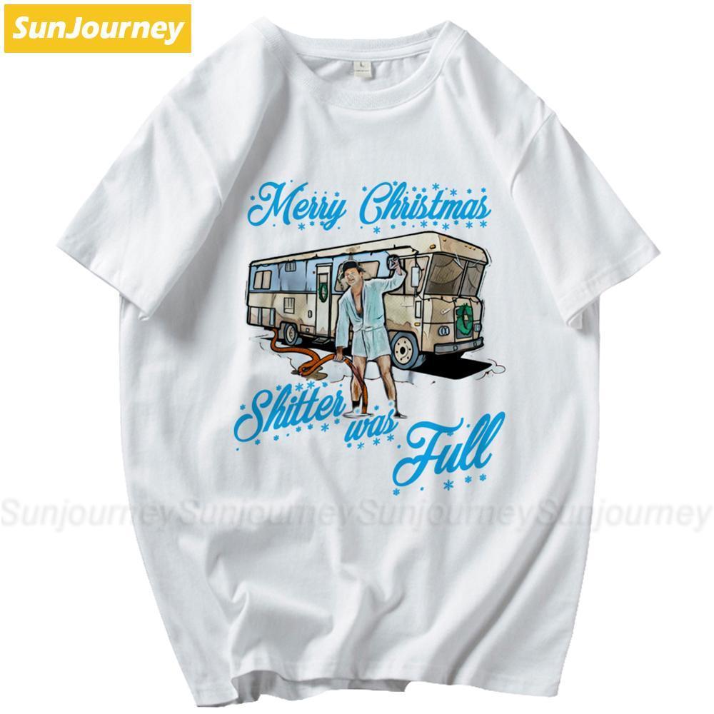 Umorismo Commedia Buon Natale Cagone era piena uomini della maglietta più la camicia Uomini manica corta in cotone personalizzato di
