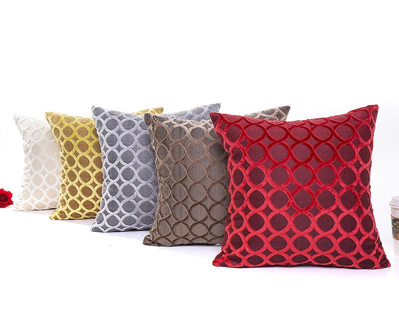 Стекающие подушки подушки подушки Круг геометрический рисунок трехмерных подушек декоративная подушка домой декор MMQKF