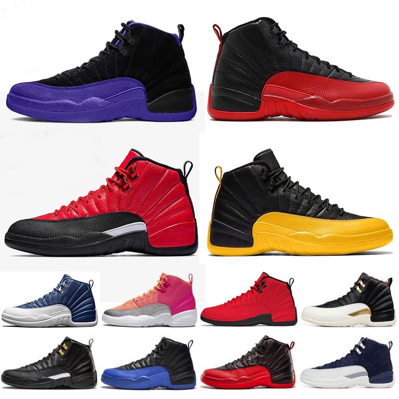 Air Jordan Retro 12 Top Sale New 12s-Basketball-Schuhe der Frauen Hot Schlags Flu Spiel Jade Designer Spiel Royal Black Trainer-Turnschuhe Größe 36-47