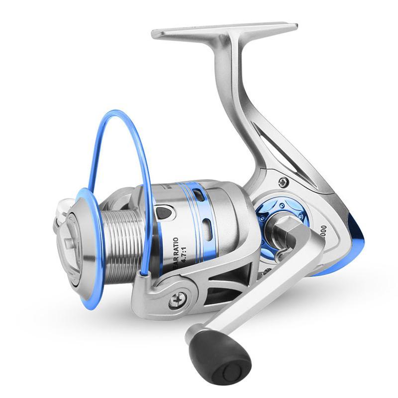 LINNHUE Spinning Reel 12BB + 1 из нержавеющей стали 1000 6000 Правая Левая рука металла Rocker Рыболовная катушка Спиннинг Песка колеса Рыбалка