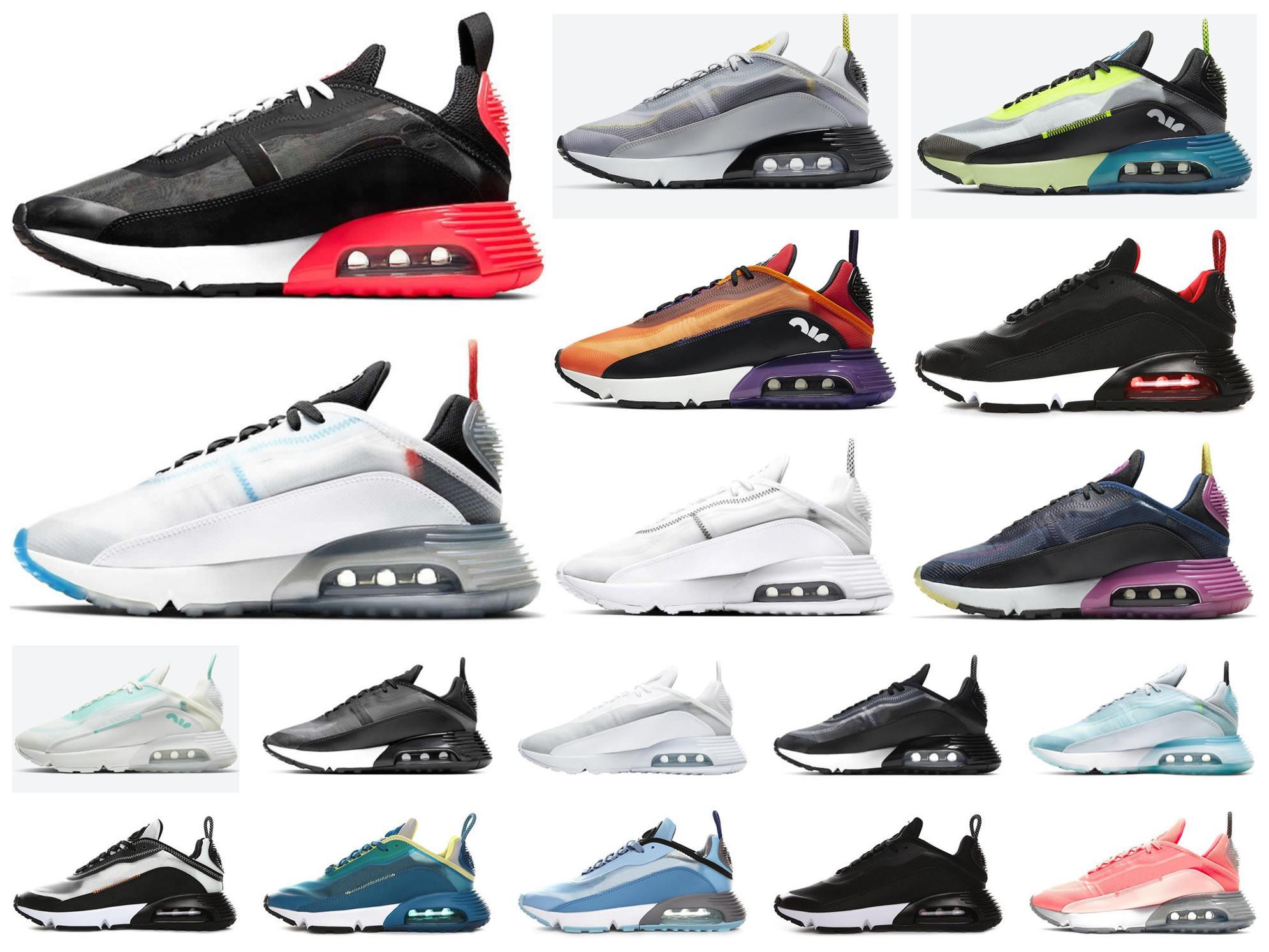 وصل 2020 جديد الصرفة 2090 البلاتين الاحذية الرجال النساء الرجال بطة كامو النقي البلاتين الصهارة أورانج الرياضية ذات جودة عالية حذاء رياضة 36-45