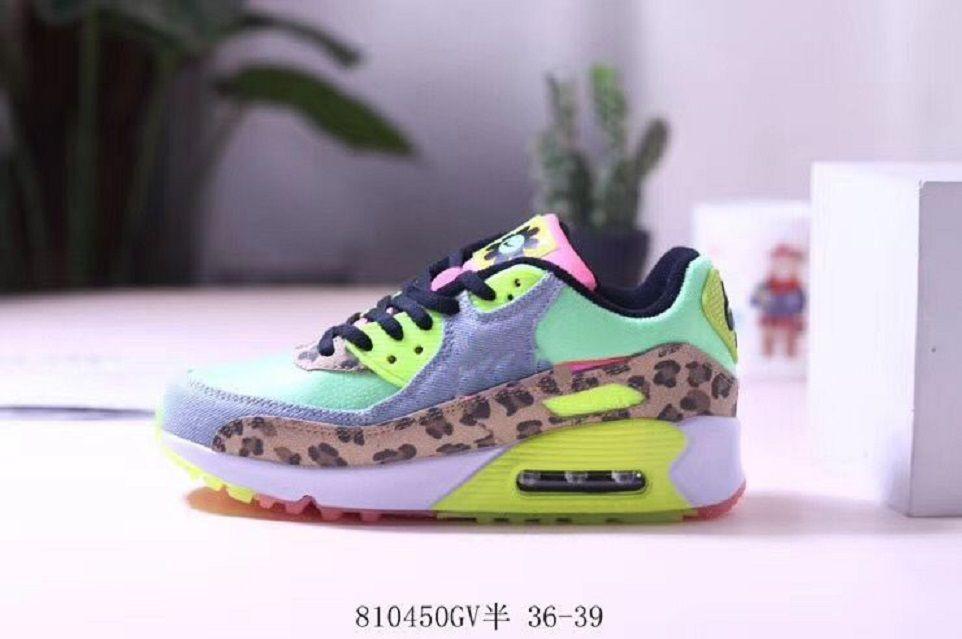 90. 30th Anniversary Wilder Leopard-Druck-bunter Kristall Bottom 90 Ultra-2.0 Wesentliche Laufschuhe beiläufige Schuhe der Frauen Breathab Oberflächen
