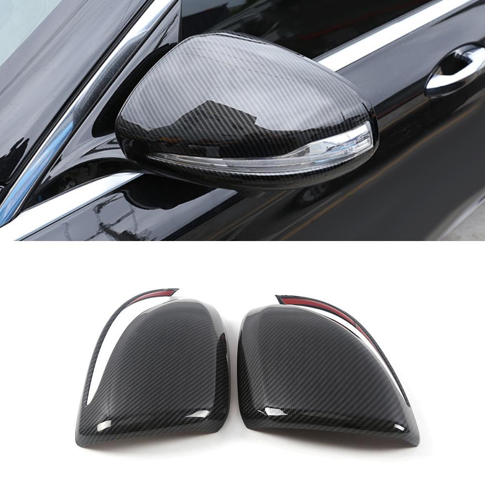 Accessoires Side Car Rearview Mirror Chrome Garniture Sticker Cover Cadre Décor extérieur pour Mercedes-Benz Classe E W213 2016-2020