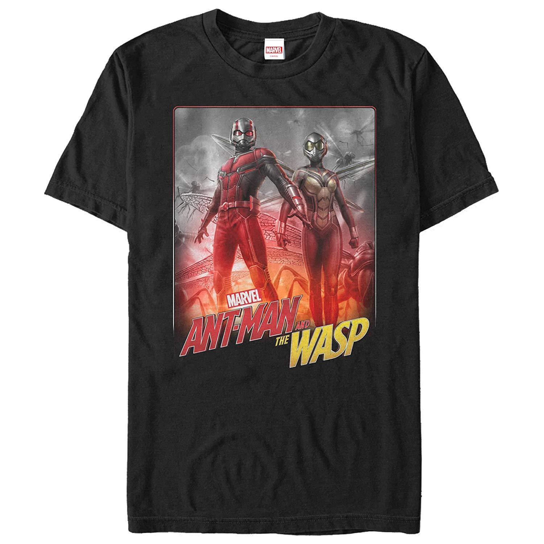Marvel Männer Ameisen und Wespen Partner T-Shirts Sommer mit kurzen Ärmeln Baumwolle T-Shirt Fashion Baumwollbeiläufiges Shirt Weiß Top
