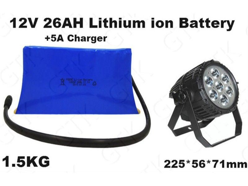 golf Parça dedektörü Sahne ışık monitör OKSİJENERATÖR Elektronik terazi POS LED için lityum iyon pil 12v 26ah li bateria