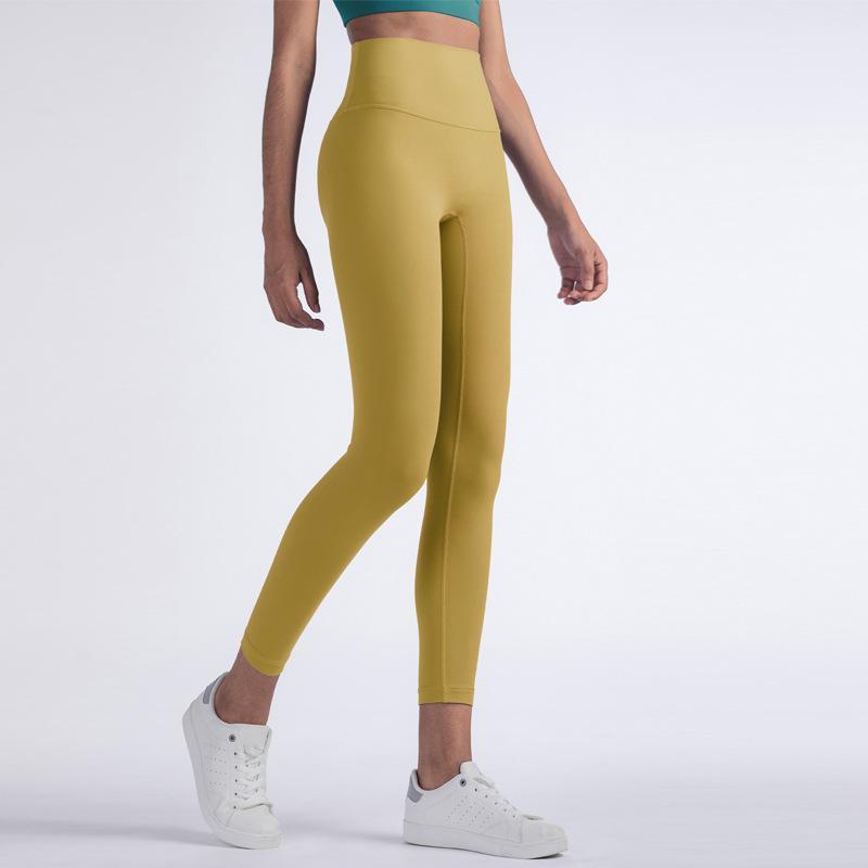 NCLAGEN Butt Lift Yogaings Leggings Mulheres cintura alta Squat Proof Workout Nude Capris 2020 Gym Energia Nylon aptidão Leggings CX200720
