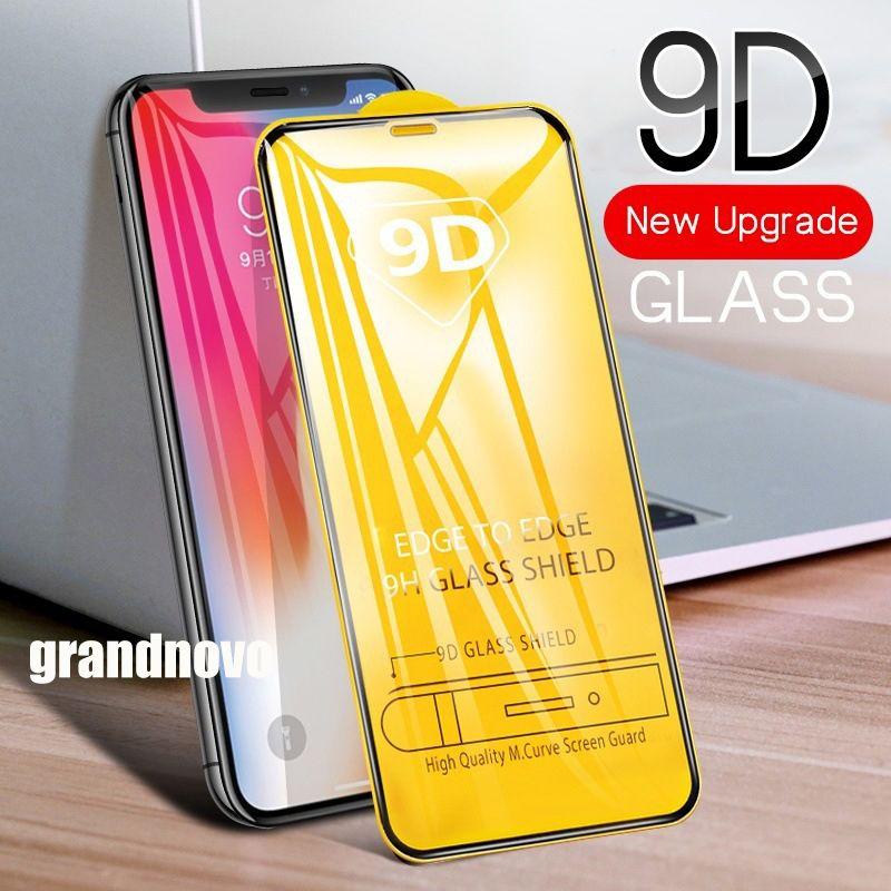 9D completa Glue vidro temperado aresta curvada Guard Film tampa do protetor de tela Para Huawei P40 Lite E P30 Companheiro 30 20 P Inteligente S Y5P Y6P Y7P Y8P