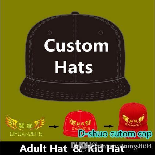 Logo Özel Beyzbol Kapaklar Hip Hop Snapback Yetişkin Çocuk Boyutu Nakış Baskı Logosu Tam Tamamen Kapalı Şapka Takas Fabrika