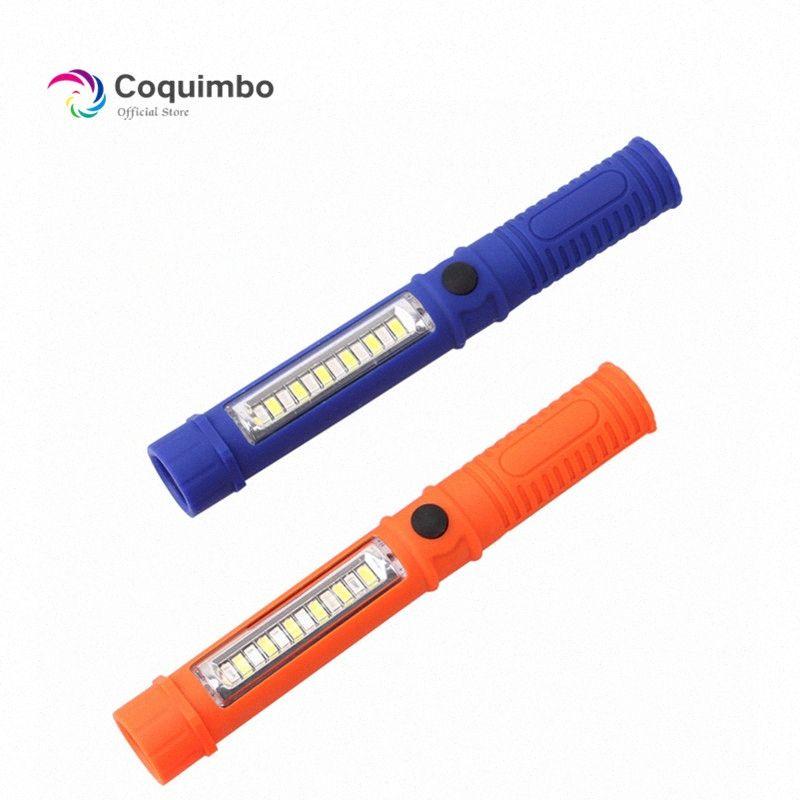 Multifunction Mini COB LED Pen Torch Inspection Lamp Pocket Led Flash Light With Clip Magnet Lanterna Used 3 mMPw#