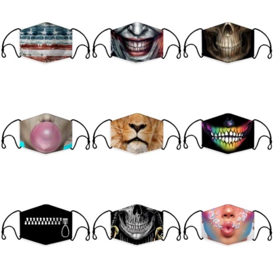 Maschera anti-polvere Earloop con la respirazione maschere valvola regolabile riutilizzabile Bocca Maschere respirabile morbido antipolvere protettivo # 734