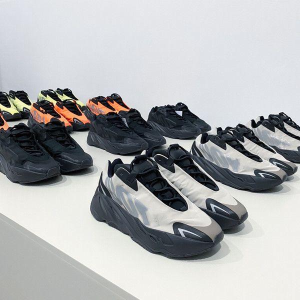 2020 Wave Runner 700 fard à joues Desert Rat Sel 700V2 Blanc Noir Chaussures de course Kanye West Hommes Femmes Formateurs Sneaker Chaussures de sport de sport 5-11