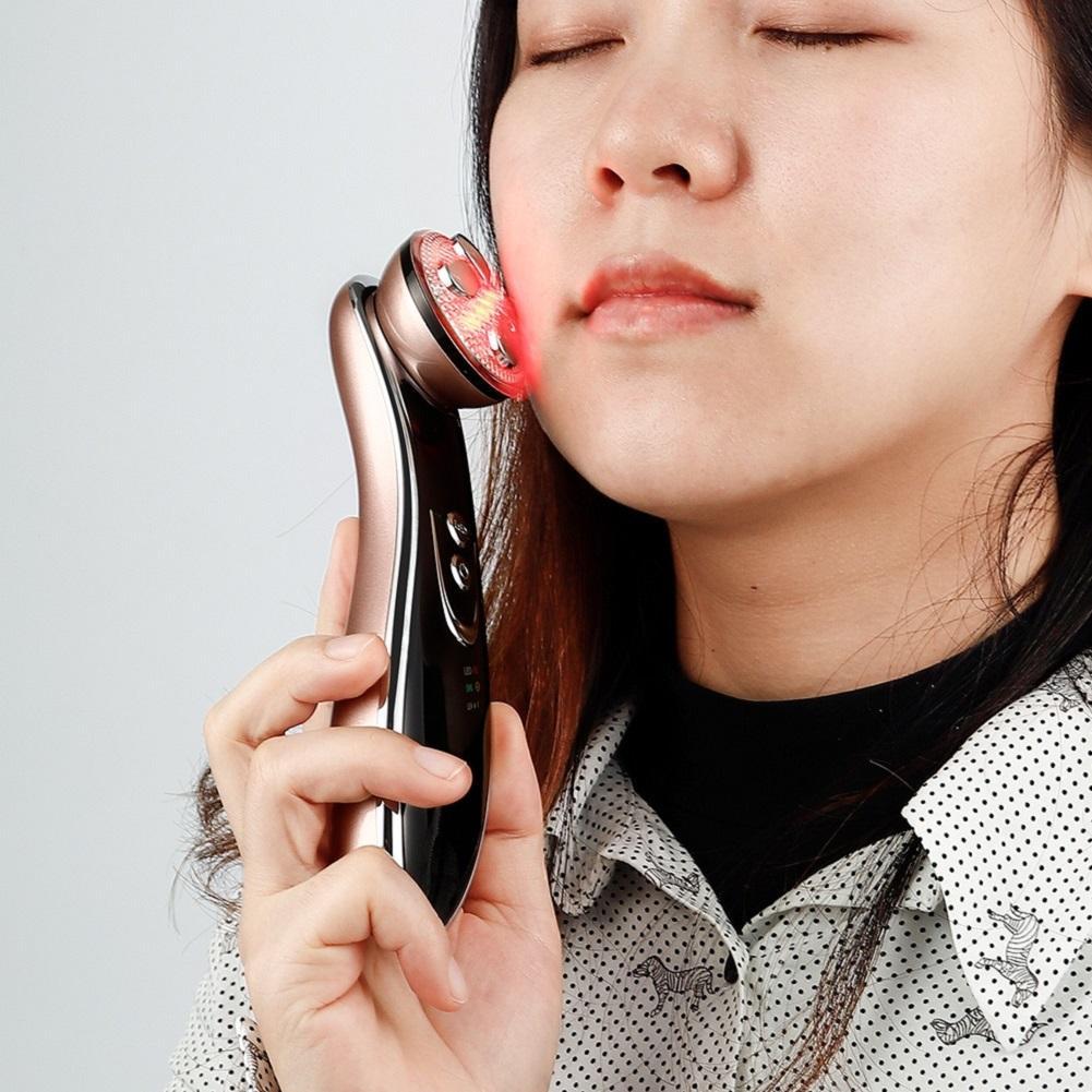جهاز تردد الراديو الكهربائي LED الفوتون ضوء العلاج RF EMS الجلد ترطيب الوجه رفع آلة تدليك الجمال آلة