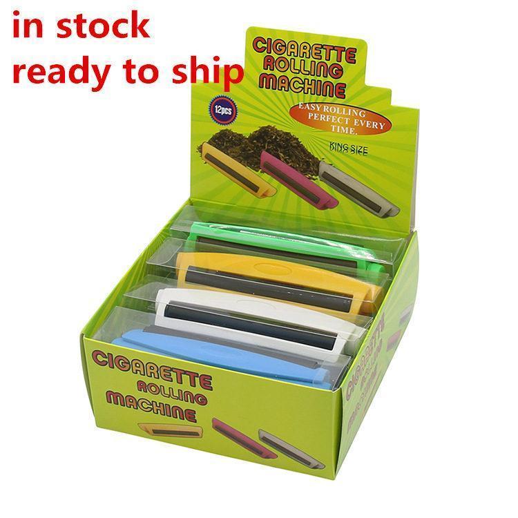 EU Stock plástico cheio máquina de cigarros 110m cigarro Dispositivo Tmobacco rolo Cigarro Criador Rolling Machine Acessórios fumar FY2141