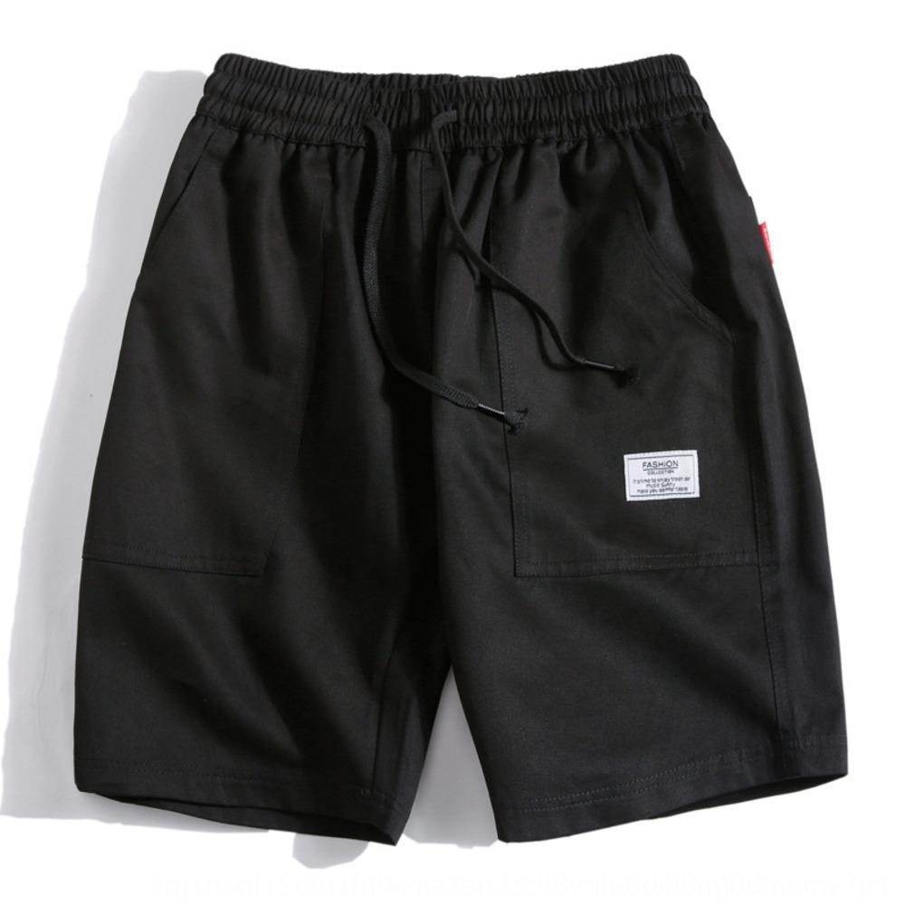 Nove nove Shorts lunga fino alle caviglie pantaloncini casuali giovani uomini marea allentata uomini di estate flusso d'estate Baita ritagliata pantaloni grandi metà pantaloni marea