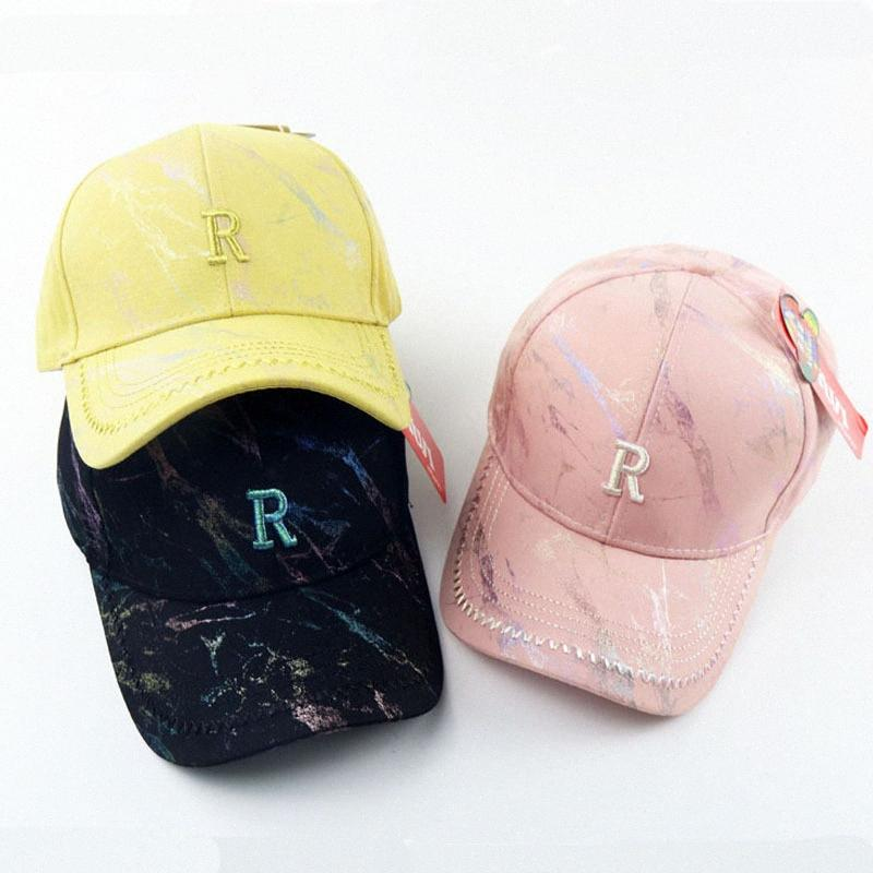2020 2020 Autumn And Winter New Childrens Hat Korean Embroidery R Baseball Cap Baby Boys And Girls Casual Performance Hip Hop Cap From tU1K#