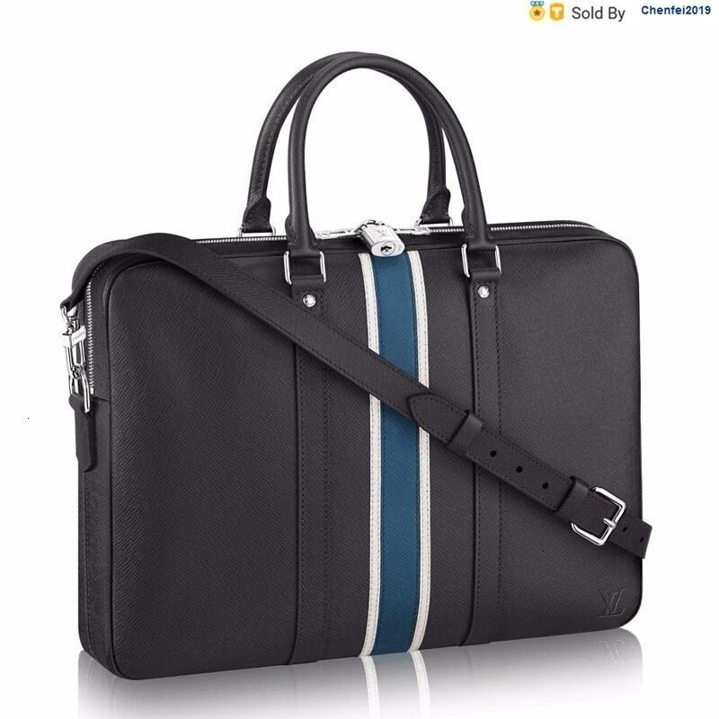 chenfei2019 YTMY Tasche Taiga Leder Krawatte Offizielles Dokument Handtasche M34418 Totes Handtaschen Schulter-Rucksäcke Wallets Purse