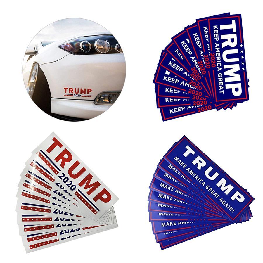 ترامب ملصقات السيارات 76 * 23CM الاحتفاظ جعل أميركا مرة أخرى العظمى دونالد ترامب ملصقات الوفير ملصقا عناصر الجدة 10PCS / مجموعة 500sets OOA6901