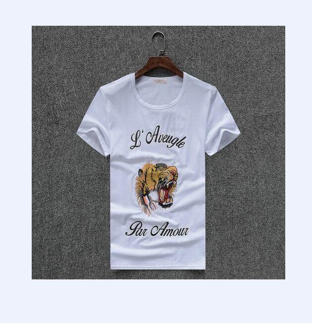 Camisas de verano 2020 el nuevo 100% algodón de los hombres, la moda de la marca Tiger Graffiti Camisetas, Impreso Carta de los hombres de las camisetas, Casual Confort camisetas