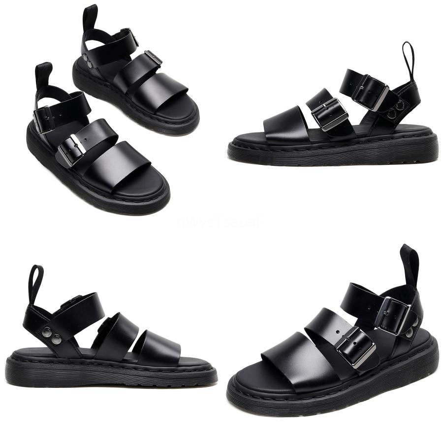 Leather Sandals CYYTLFashion Beach Summer Open Toe Shoes piattaforma antiscivolo pantofole mano Stiching Hommes Sapatos Masculino # 823