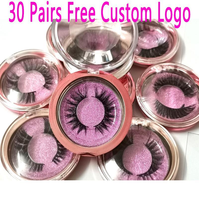 Atacado Encomendar 30pairs / lot Livre Logo personalizado 18Styles macia dramática do olho cílios 3D Mink Handmade cílios