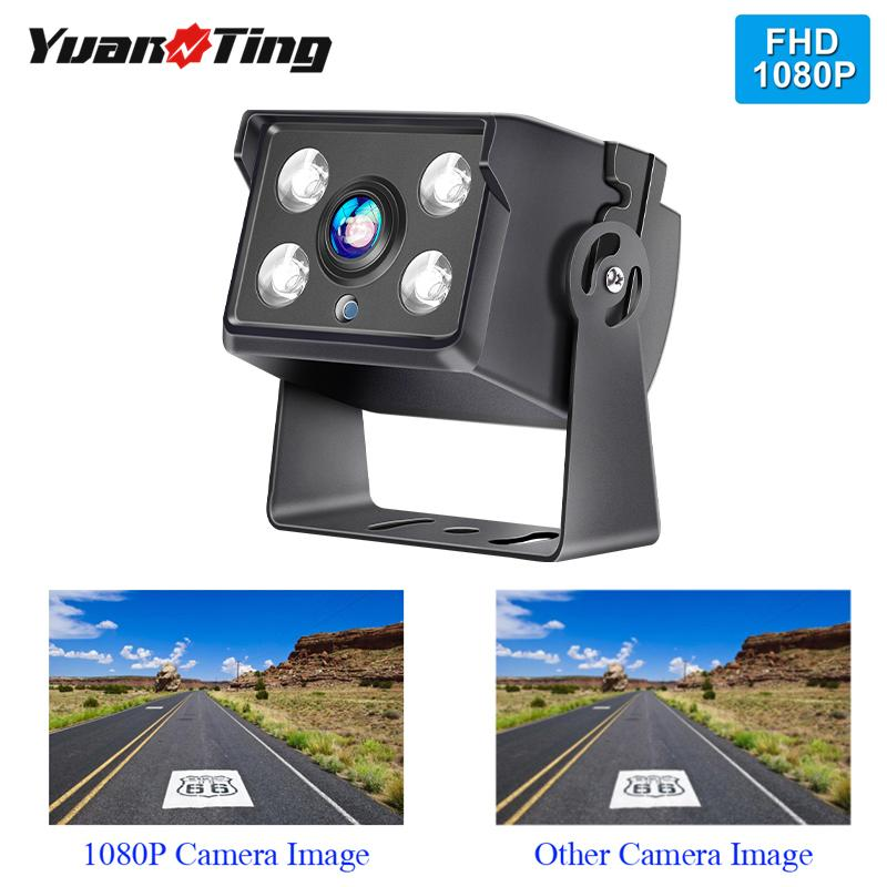 YuanTing Truck Bus Backup Camera Heavy Duty 4 LED IR Night Vision Waterproof Vehicle Rear View 12V 24V Without Guide Line car