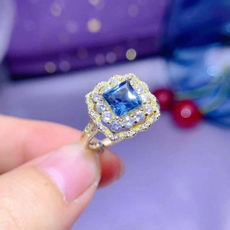 100% натуральный и Real топаз кольцо Свадьба обручальное кольцо Топаз изящных ювелирных изделий оптовой продажи 925 Щепка YUSX #