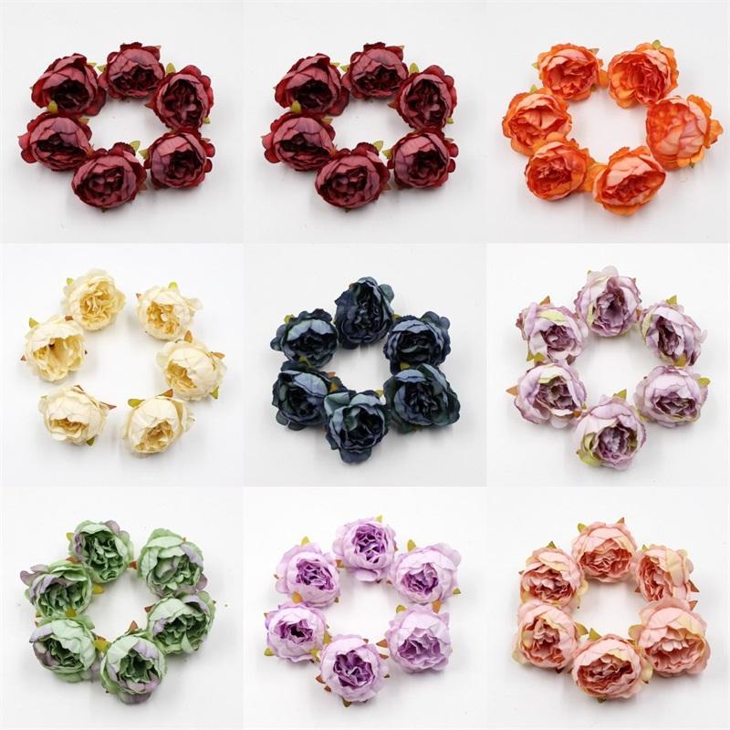 Simulação Ranunculus secas Cabeça de Flor colorida flores artificiais DIY Processo Cenário Home Furnishing Decoration grátis 0 52yj E2