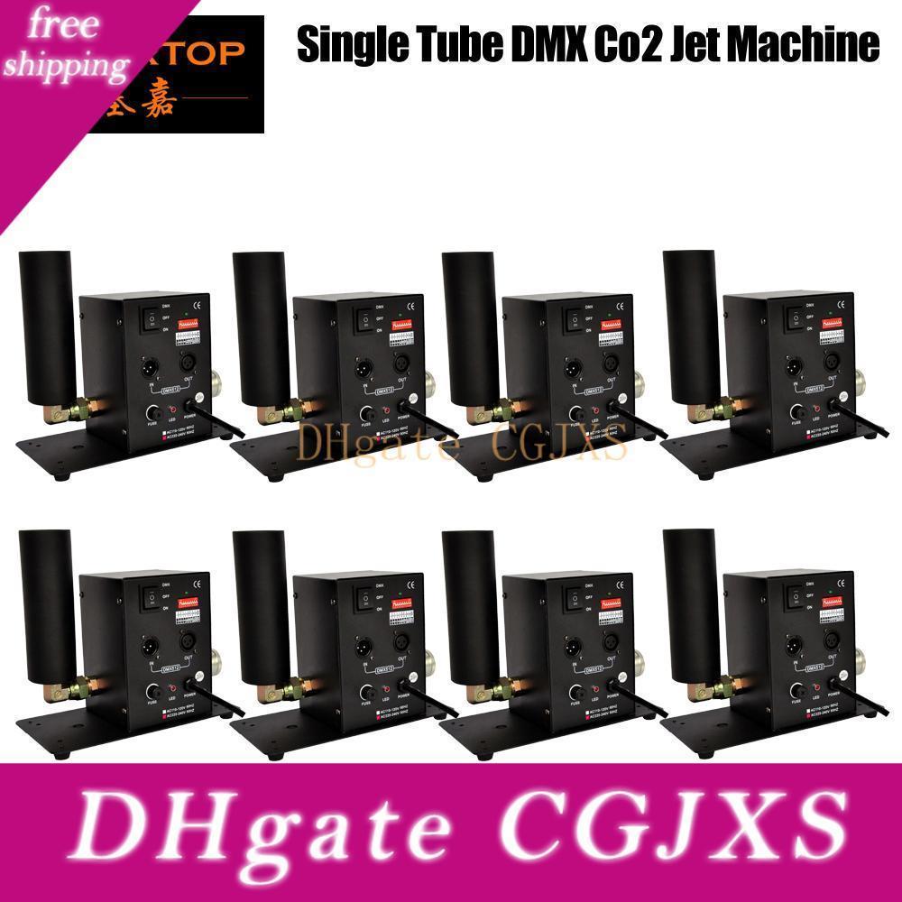 8PCS / 부지 무대 효과 빛 단일 파이프 이산화탄소 제트기 기계 DMX 제어 90V / 240V 이산화탄소 총 제트 사용자 정의 OEM 로고 서비스 클럽 캐논 이산화탄소 Tp를 -T27