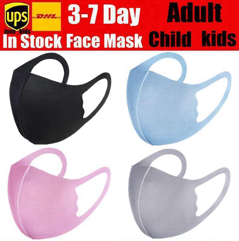 mascarilla Boca niños Máscara adulto joven cubierta PM2.5 respirador a prueba de polvo del polvo anti reutilizable lavable de seda del hielo del algodón del niño Máscaras DHL