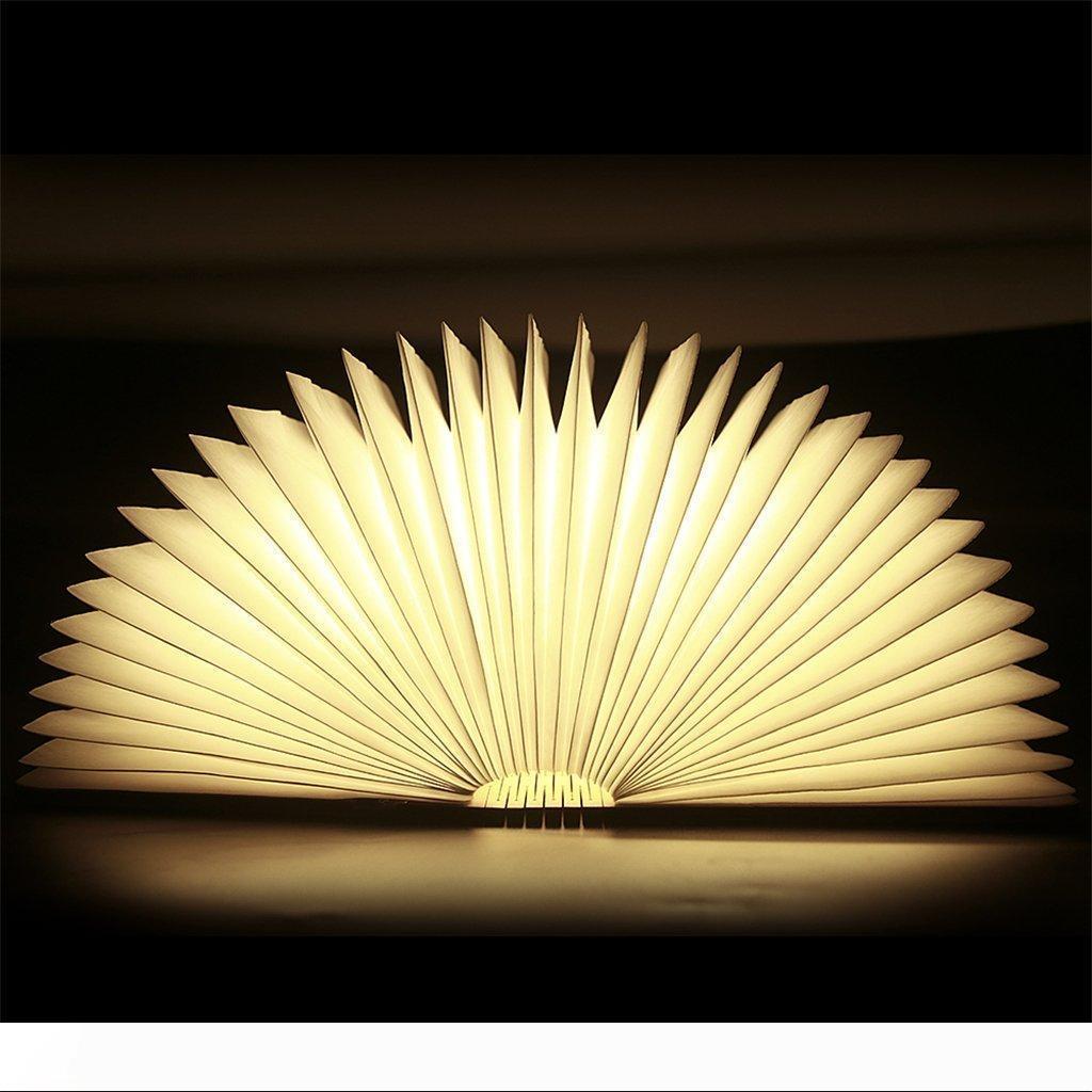 USB recarregável de madeira Folding LED Night Light Livro Light - 2500mAh Lithium Batteries Desk Lamp, até 8 horas de uso Magnetic abajur