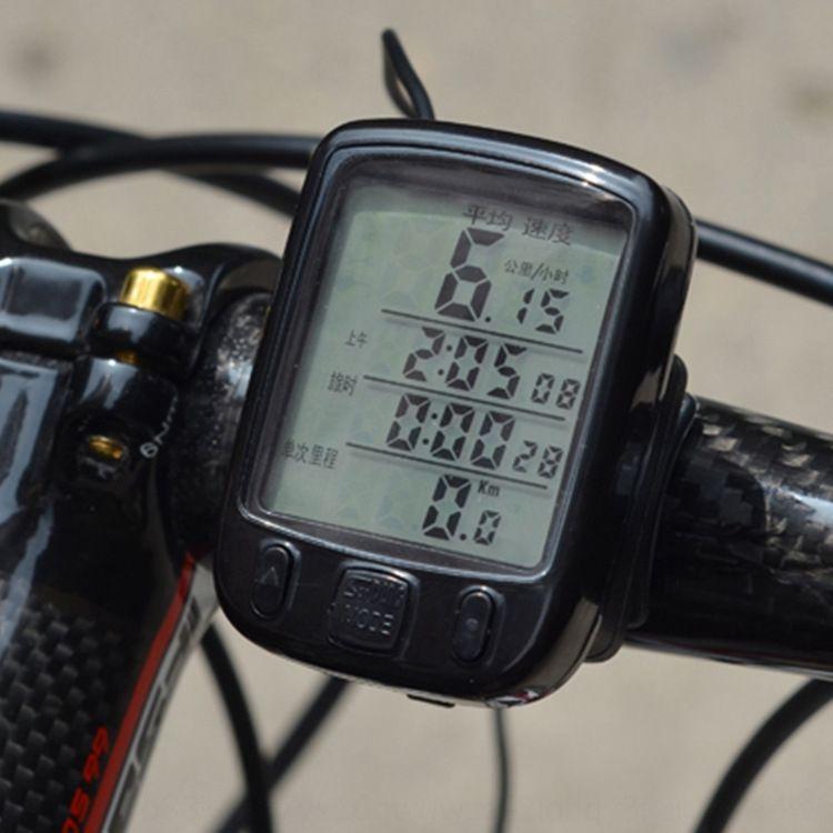 SD-563A codice mountain bike grande schermo luminoso impermeabile tachimetro bicicletta metro codice della bicicletta dello schermo bicicletta