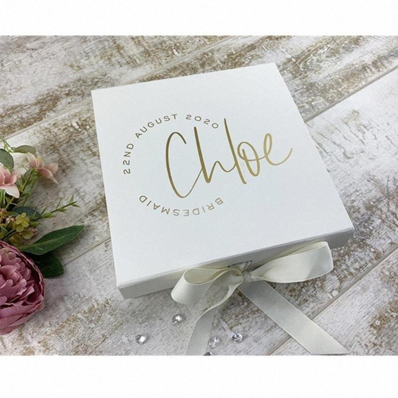 Personlised Wedding Box damigella d'onore Proposta Gift Box, damigella d'onore Gift Box, Thank You You Will Be My regalo della carta da imballaggio Box Borse Wrapp Ptez #