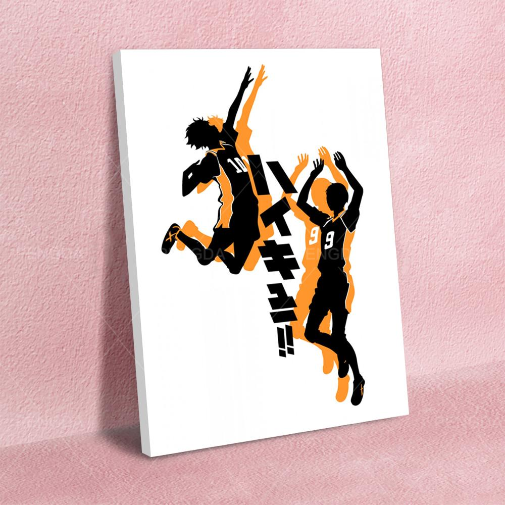 Wall Art Poster Haikyuu HD Prints Minimalist Modular Pictures Japan Anime Canvas Painting Home Decoration For Living Room Frame