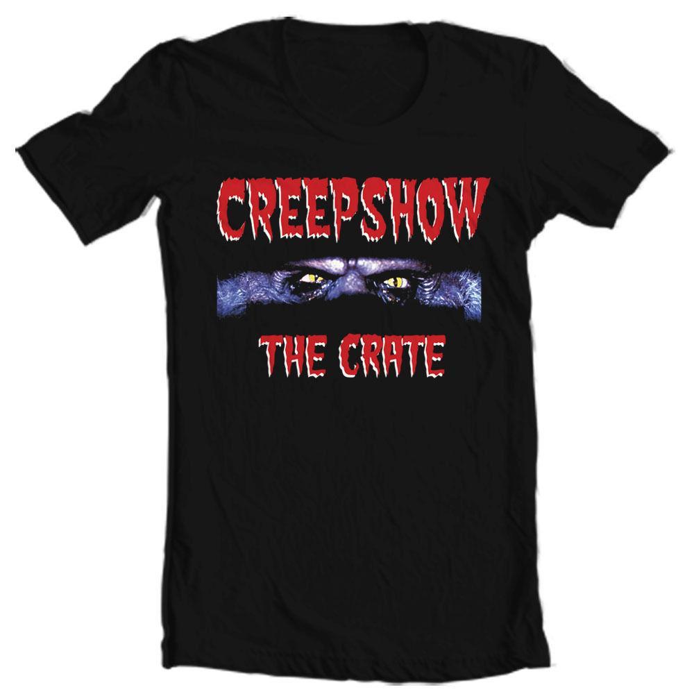 Creepshow La camicia Crate T retrò anni 80 di film horror trasporto libero nero freddo casuale orgoglio uomini della maglietta unisex