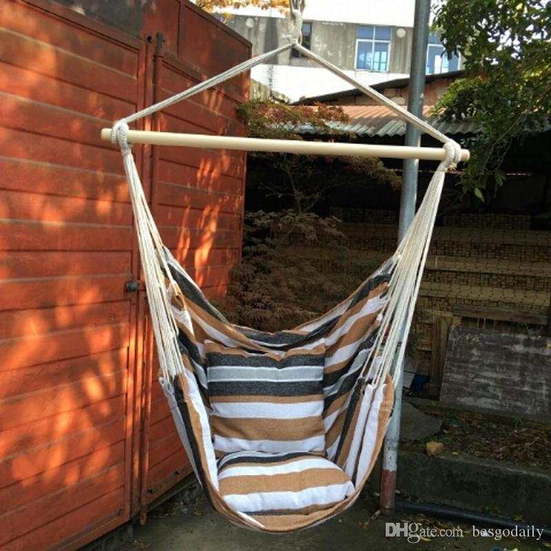 Tragbare Reise Camping Hängen Hängematte Home Schlafzimmer Lazy Swing Chair Garden Indoor Outdoor Mode Hängematten Swings Sitzstuhl DBC BH3146