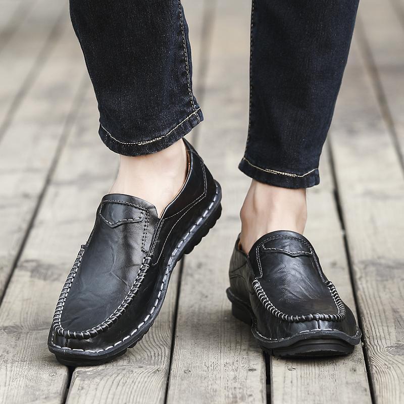 Zapatilla de deporte de la venta caliente para hombre mocasines de ocio y deportivas planas negras zapatillas de deporte 2020 de la zapatilla de deporte causales calzado deportivo hombre mens