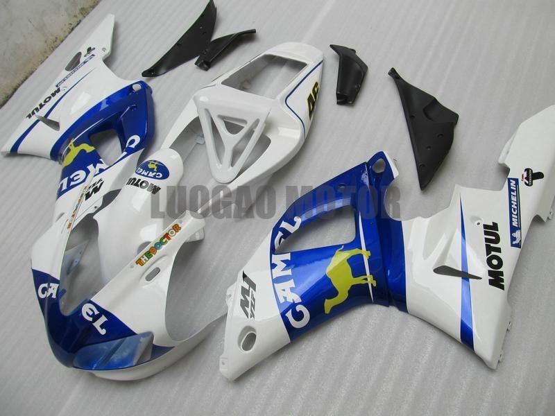 azules bodykits camello blanco para YAMAHA YZF1000 1998 1999 Yamaha YZF R1 1998 1999 YZF 1000 98 99 ABS carenados YZF R1 98 99 kits r1 carenado