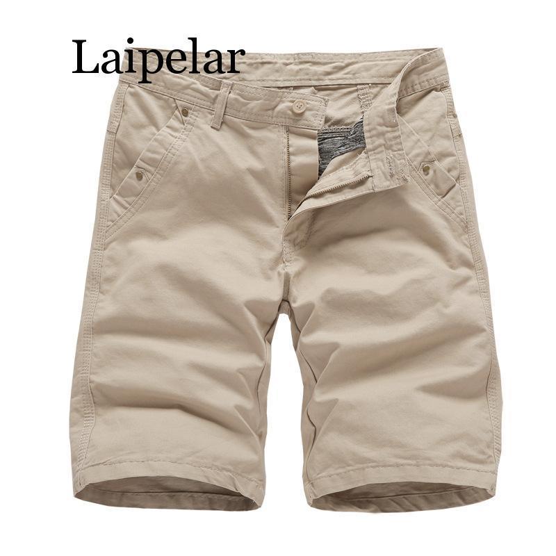 Mens a estrenar de Carga cortocircuitos 2020 pantalones cortos de alta calidad Negro de algodón para hombres sólido ocasional cortocircuitos de la playa de los hombres de verano de fondo