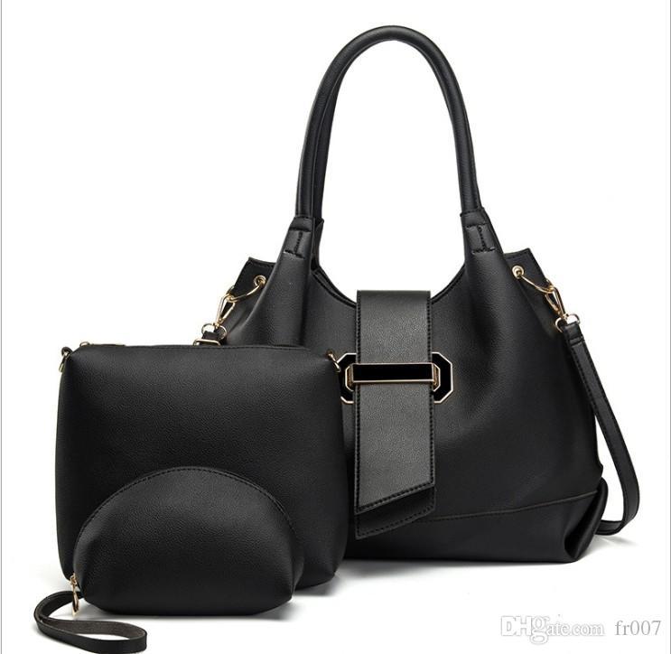 Le donne Top-Handle Bag Femminile Composite Donne Messenger Borse borsa dell'unità di elaborazione Set in pelle Borse