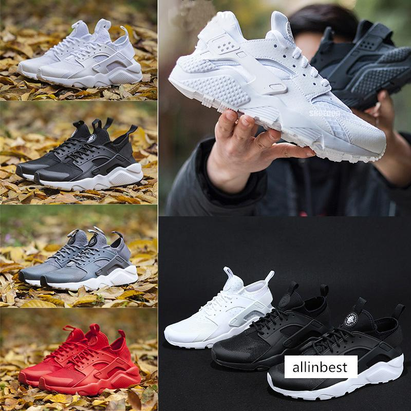 Running Shoes Huarache Ultra 4.0 runner For Men Womens 1s triple Black White gold Red Huaraches casual nice Sports Sneakers trainer