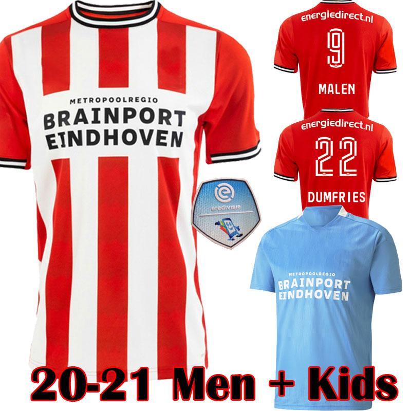 20 21 Yeni EINDHOVEN futbol formaları 2020 2021 MALEN camisa de futebol IHATTAREN DUMFRIES GAKPO BRUMA LAMMERS erkek çocuklar kiti futbol forması