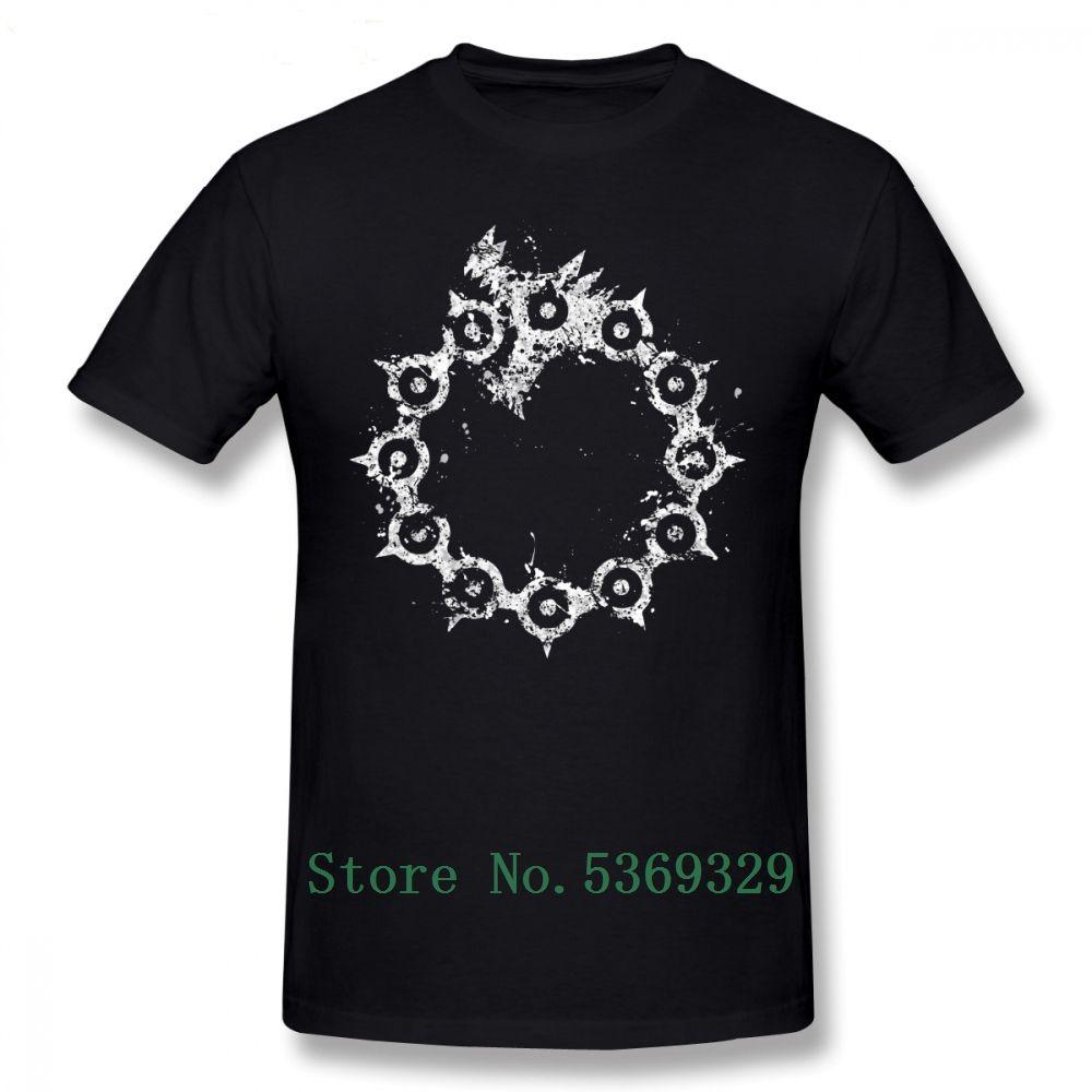 Yedi Ölümcül Günah Tişörtlü Yedi Ölümcül Günah Gazabı Tişört Grafik Artı boyutu Tee Gömlek Yaz komik adam Tişört