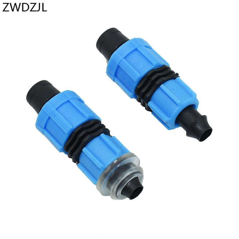 """16mm Drip Tape Connectors 5/8"""" Greenhouse Irrigation Thread Locked Garden Drip Irrigation System Pipe Fittings 30pcs"""